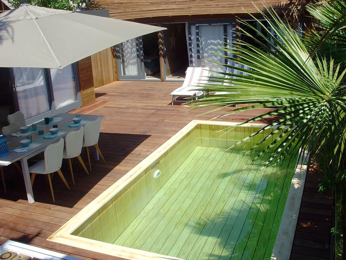 L 39 installateur de piscines en bois aix en provence - Mini piscine enterree ...