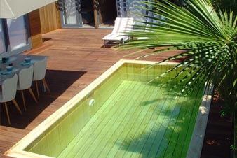 piscine bois interieur