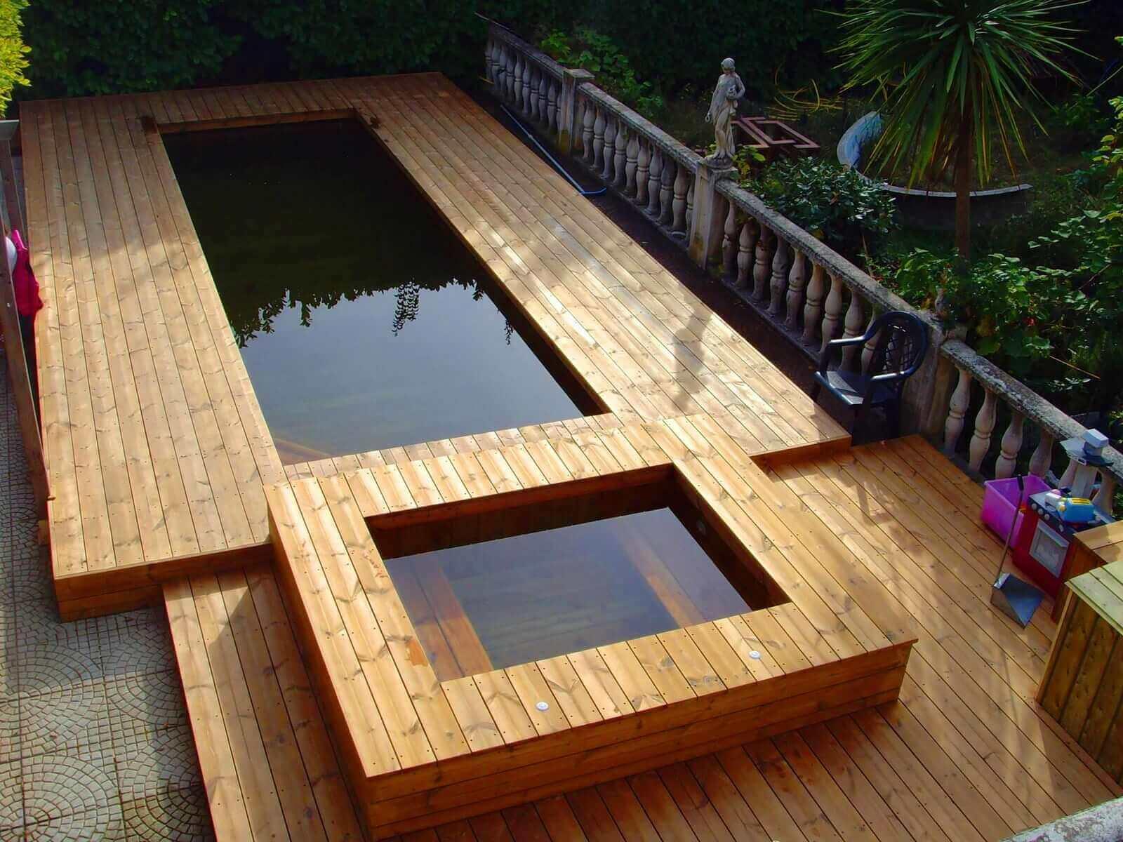 Nos r alisations de jacuzzis en bois - Jacuzzi exterieur sur terrasse ...