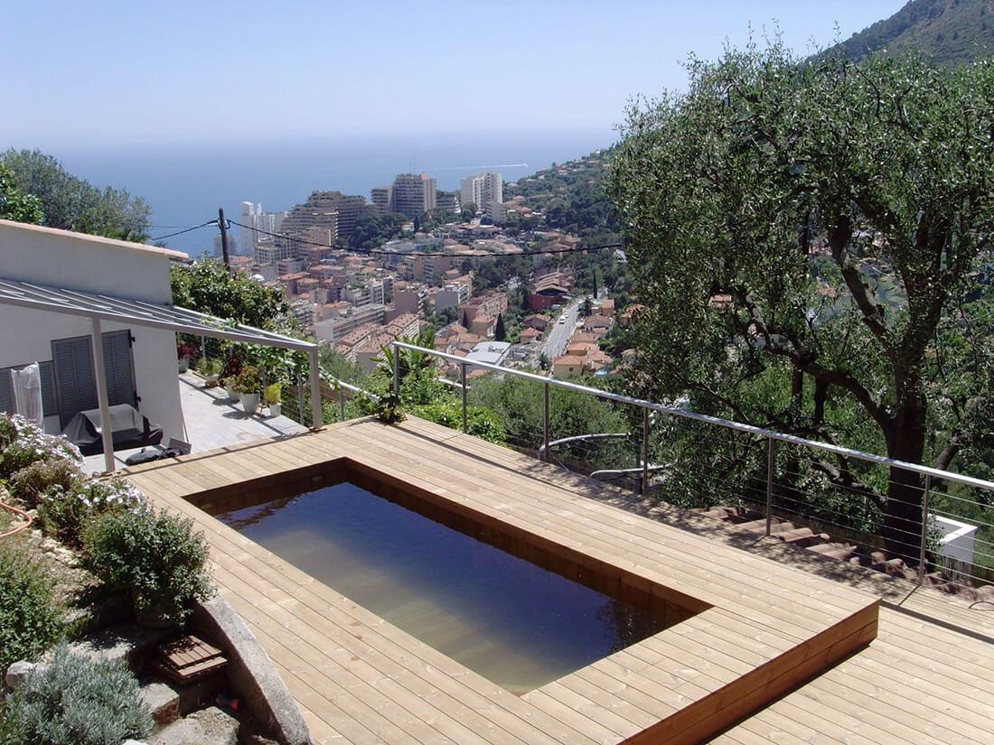 Fabricant de piscine en bois de luxe monaco for Fabricant de piscine en bois