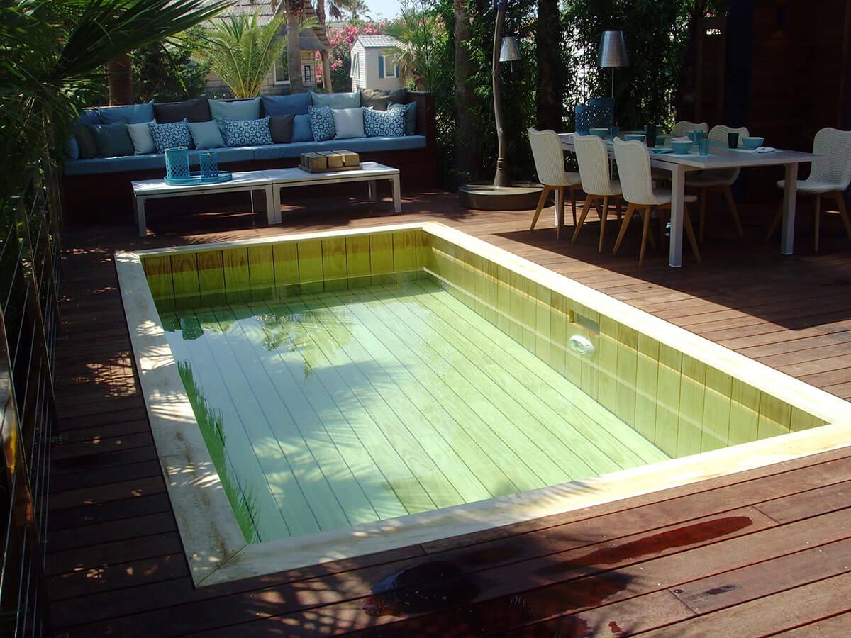 Constructeur de piscine en bois cologique pour les h tels for Constructeur de piscine