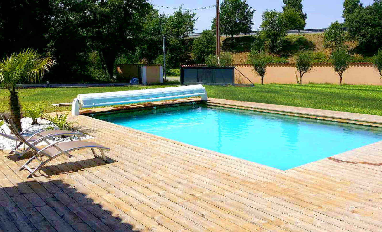 Galerie photos de piscines enterr es en bois for Piscine bois