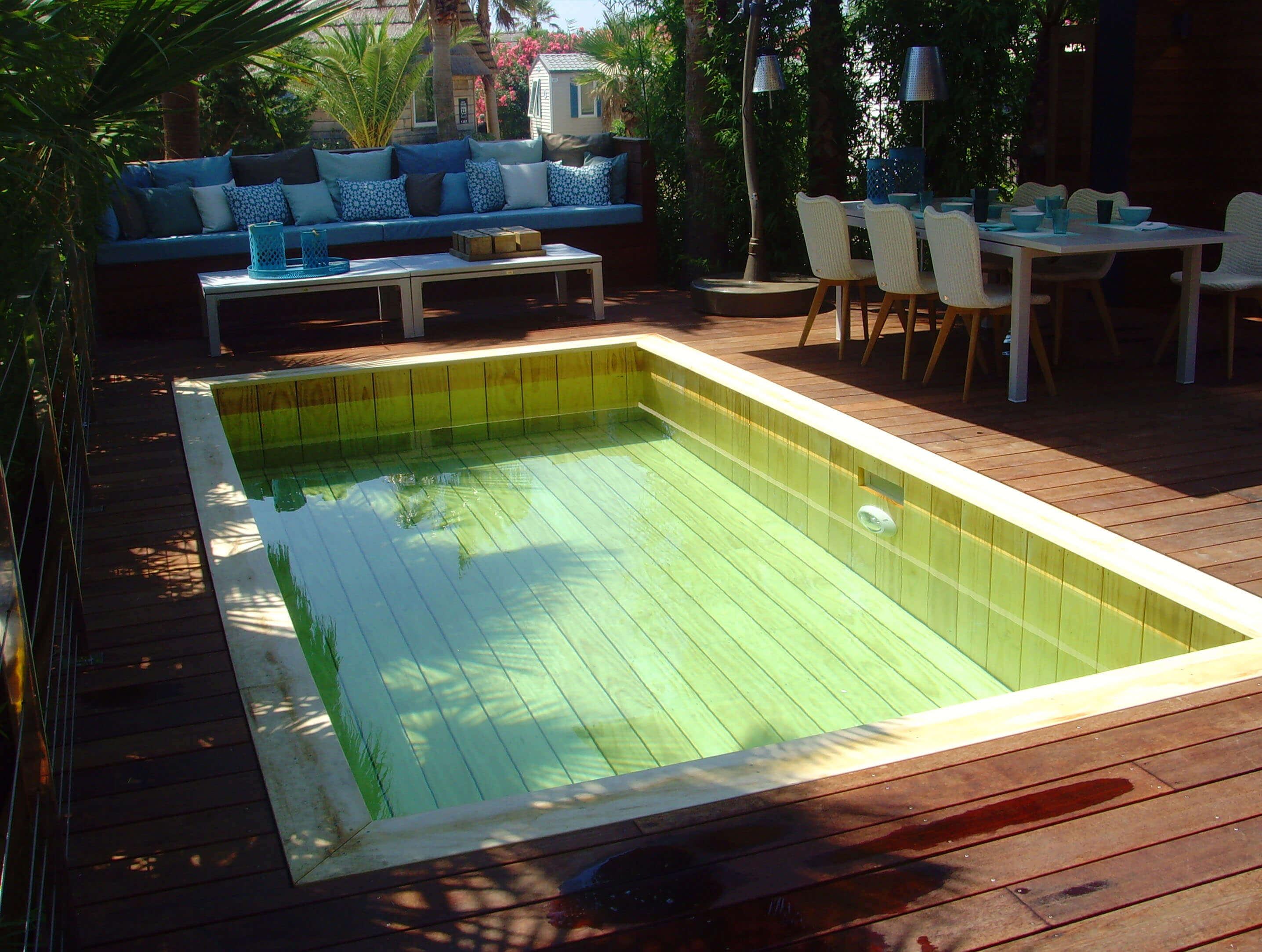 Fabricant piscine et jacuzzi spa sur mesure 100 bois - Piscine semi interieur exterieur ...
