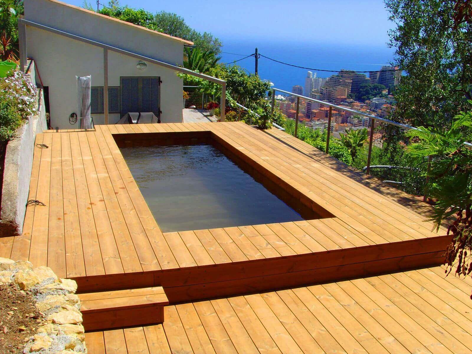 Fabricant piscine et jacuzzi spa sur mesure 100 bois for Liner sur mesure pas cher pour piscine