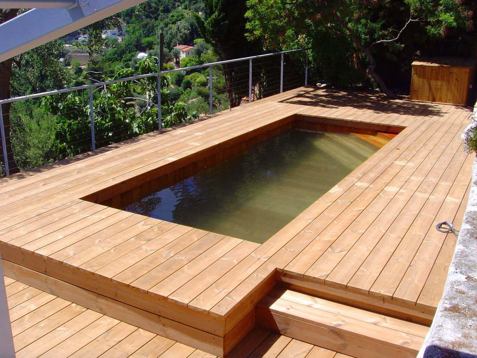 Fabricant piscine et jacuzzi spa sur mesure 100 bois for Mini piscine bois enterree