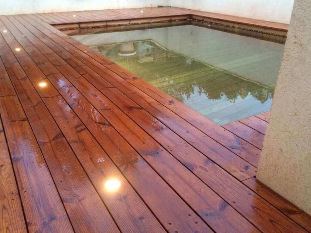 piscine bois massif