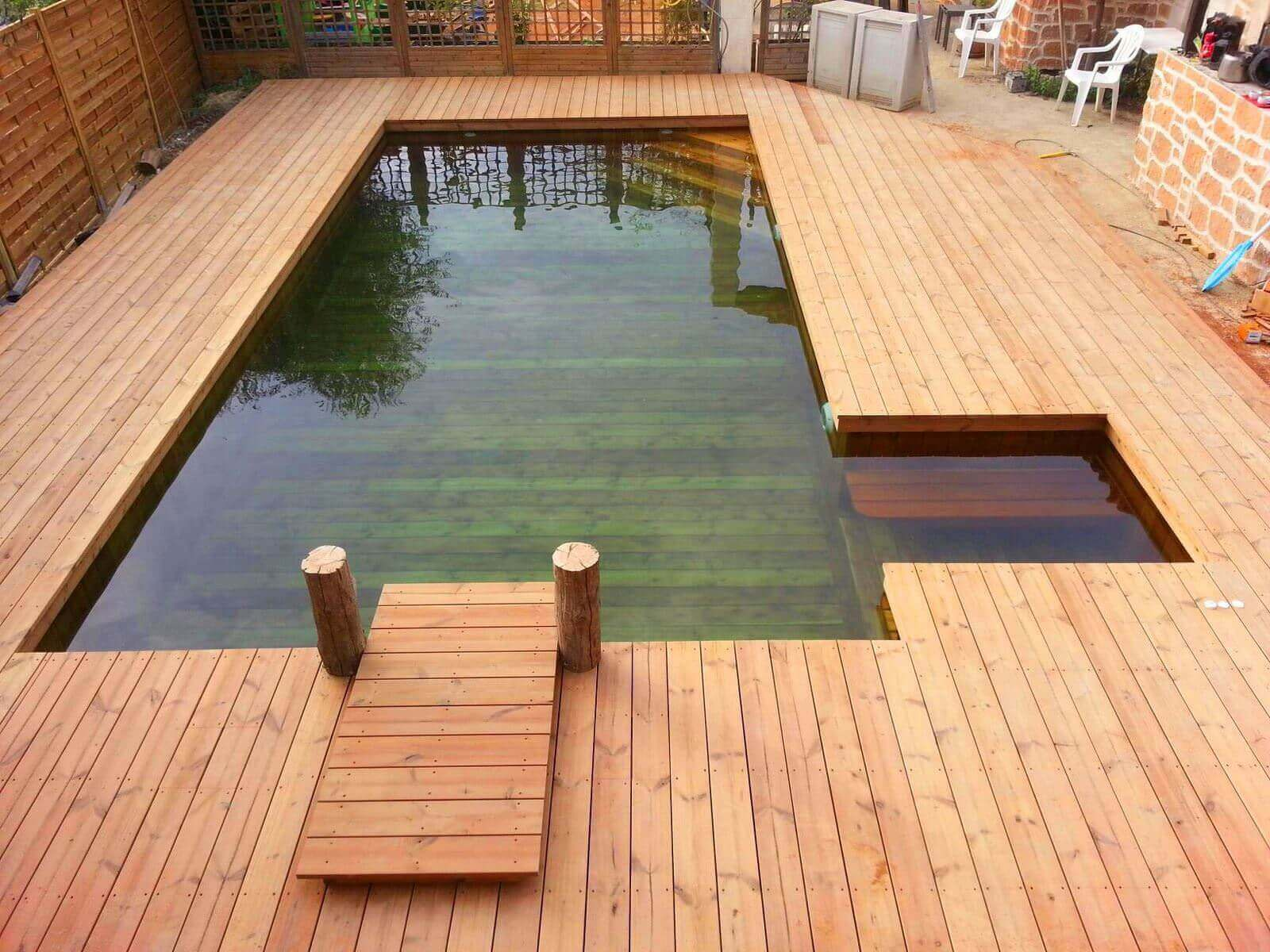 Banc terrasse bois fashion designs for Fabricant piscine bois
