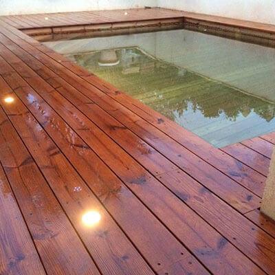 Galerie photos de piscines enterr es en bois for Piscine bois nice