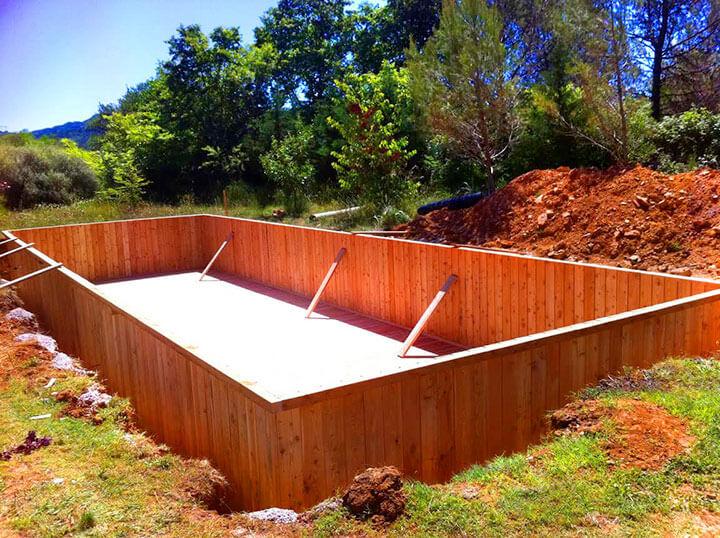 proc d de fabrication unique pour les piscines en bois sans liner. Black Bedroom Furniture Sets. Home Design Ideas