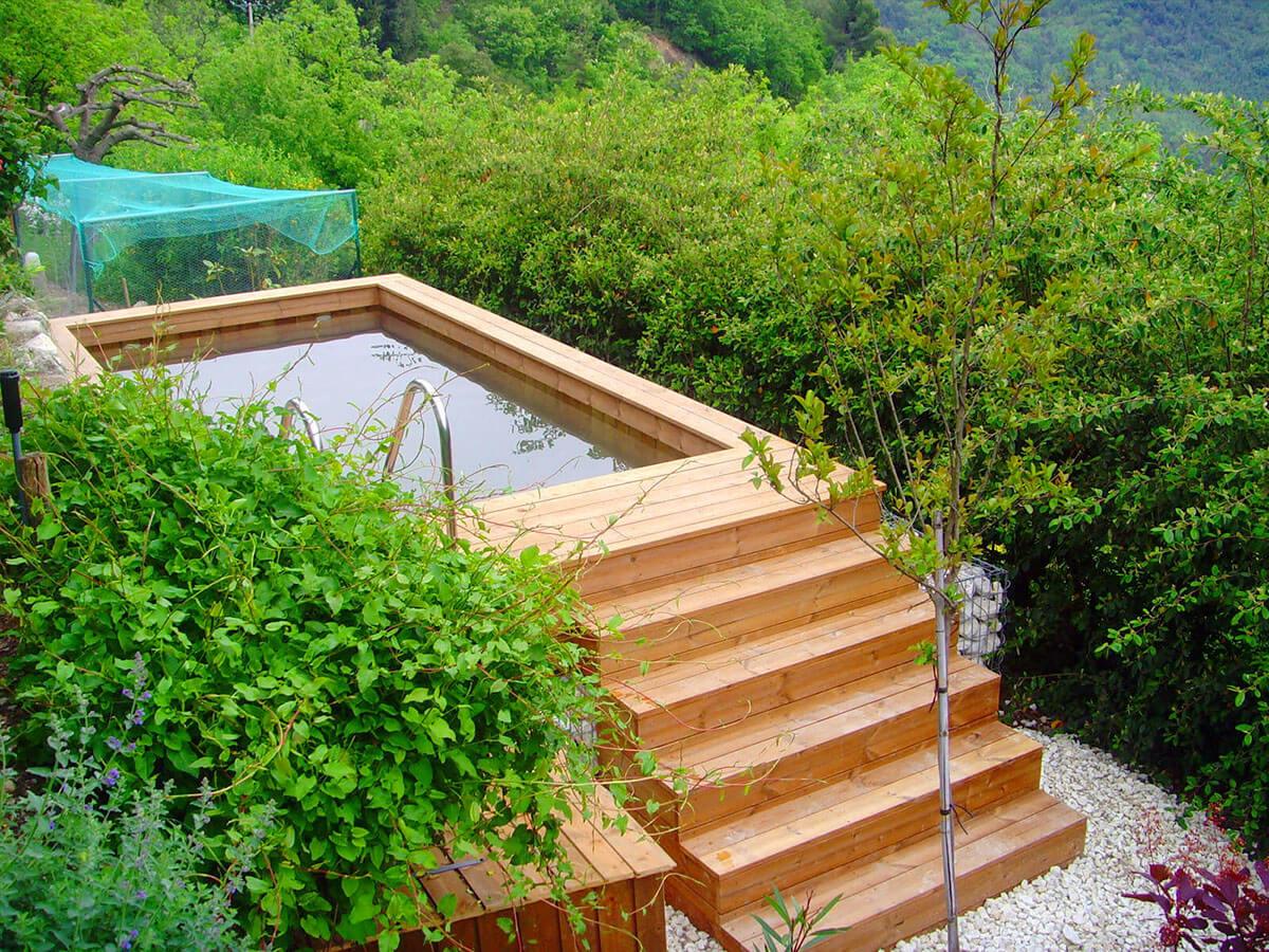 Quelle est la diff rence entre une piscine hors sol et - Hivernage piscine bois semi enterree ...