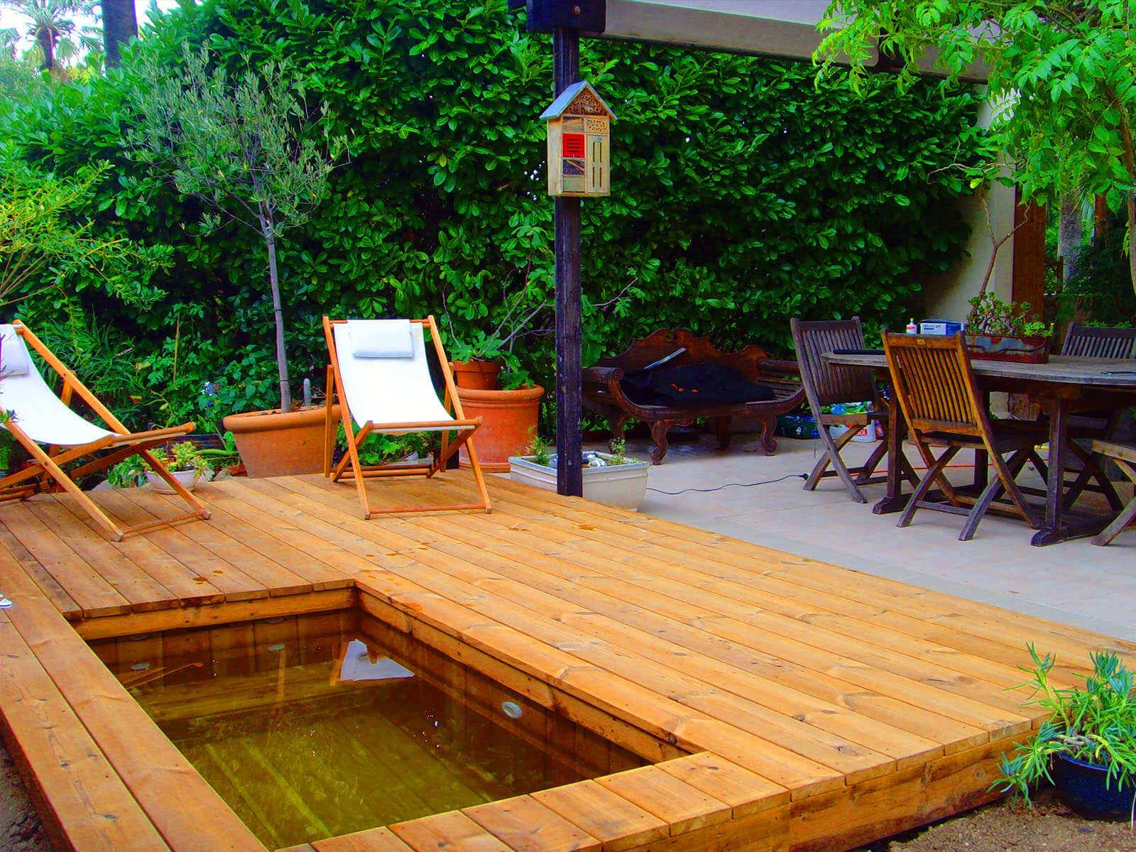Mini Piscine Petit Jardin photos de petites piscines en bois sans liner odyssea piscines