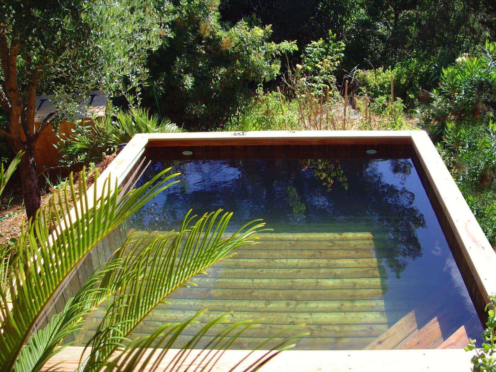 Photos de petites piscines en bois sans liner odyssea piscines for Piscine bois carre
