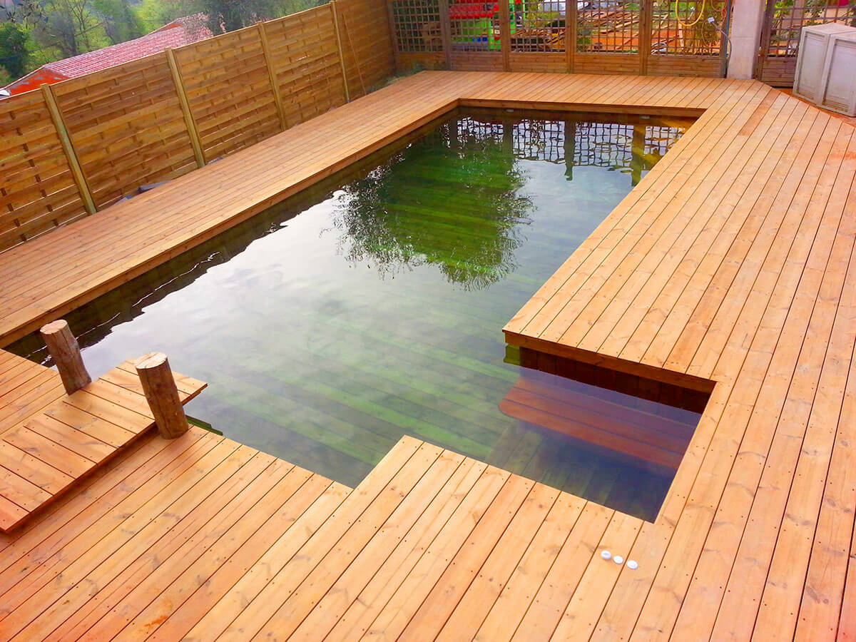 Am nagement de terrasse d coration d 39 ext rieur en bois for Piscine en bois